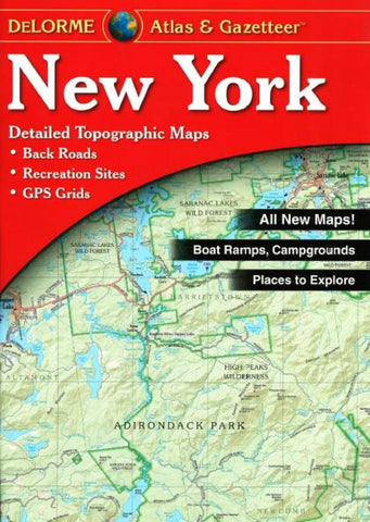 Buy map New York, Atlas and Gazetteer by DeLorme