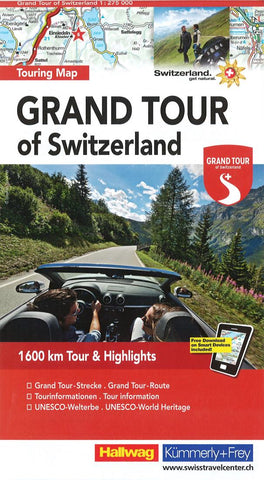 Buy map Grand Tour of Switzerland by Hallwag