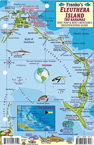 Buy map Bahamas Fish Card, Eleuthera Island Fish Card 2010 by Frankos Maps Ltd.