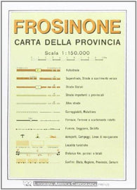 Buy map Frosinone Province, Italy by Litografia Artistica Cartografica