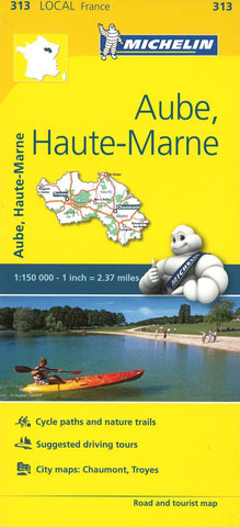 Buy map Michelin: Aube, Haute-Marne, France Road and Tourist Map by Michelin Travel Partner