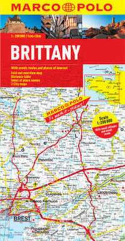 Buy map Brittany, France by Marco Polo Travel Publishing Ltd