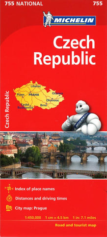 Buy map Czech Republic (755) by Michelin Maps and Guides