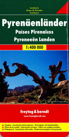 Buy map Pyrenees Region: Spain, Andorra, France by Freytag-Berndt und Artaria