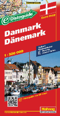 Buy map Denmark with Distoguide by Hallwag