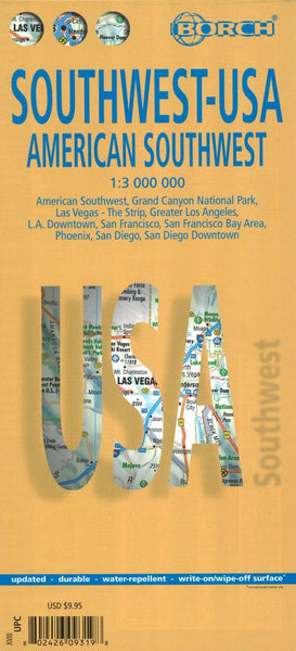 Buy map United States, Southwest by Borch GmbH.