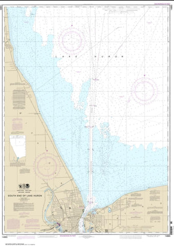 Buy map South End of Lake Huron (14865-17) by NOAA