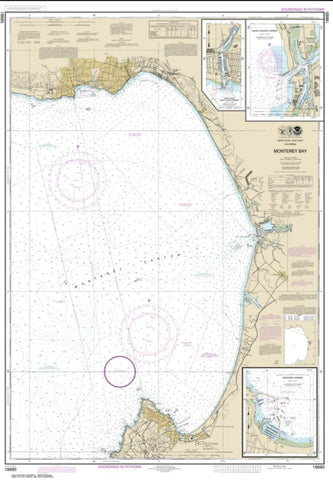 Buy map Monterey Bay; Monterey Harbor; Moss Landing Harbor; Santa Cruz Small Craft Harbor (18685-34) by NOAA