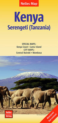 Buy map Kenya and the Serengeti, Tanzania by Nelles Verlag GmbH