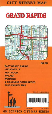 Buy map Grand Rapids, Michigan by GM Johnson