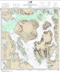 Buy map Zarembo Island and approaches;Burnett Inlet, Etolin Island; Steamer Bay (17382-17) by NOAA
