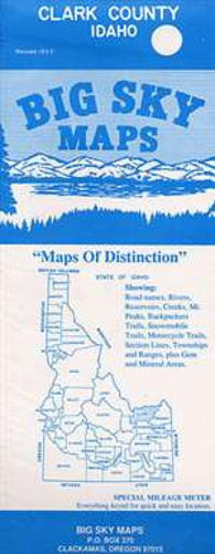 Buy map Clark County, Idaho by Big Sky Maps