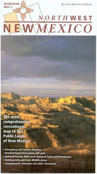 Buy map New Mexico, Northwest, Recreation Map by Public Lands Interpretive Association