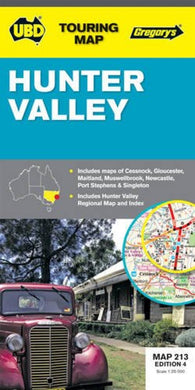 Buy map Hunter Valley, Australia by Universal Publishers Pty Ltd