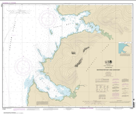 Buy map Whitewater Bay and Chaik Bay, Chatham Strait (17341-10) by NOAA
