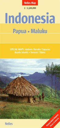 Buy map Indonesia, Papua and Maluku by Nelles Verlag GmbH