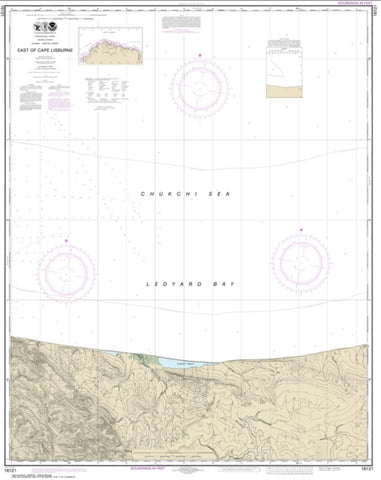 Buy map East of Cape Lisburne (16121-6) by NOAA