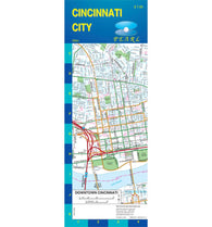 Buy map Cincinnati, Ohio, Pearl Map, laminated by GM Johnson