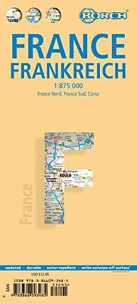 Buy map France by Borch GmbH.