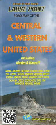 Buy map Central and Western United States, including Alaska and Hawaii by Global Graphics