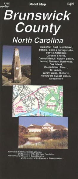 Buy map Brunswick County, North Carolina by The Seeger Map Company Inc.
