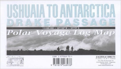 Buy map Drake Passage, Ushuaia to Antarctica by Zagier y Urruty