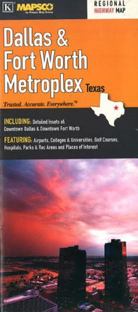 Buy map Dallas and Ft. Worth, Metroplex by Kappa Map Group