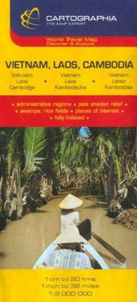 Buy map Vietnam, Laos and Cambodia by Cartographia