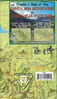 Buy map Santa Ana Mountains/ Chino Hills St Park, California by Frankos Maps Ltd.