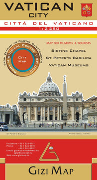 Buy map Vatican City by GiziMap