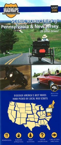 Buy map Pennsylvania and New Jersey, Scenic Road Trips by MAD Maps