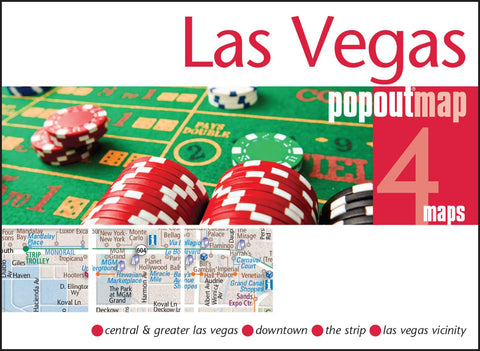 Buy map Las Vegas, Nevada, PopOut Map by PopOut Products