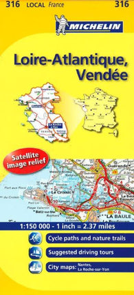 Buy map Loire-Atlantique, Vendee (316) by Michelin Maps and Guides