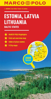 Buy map Baltic States: Estonia, Latvia, Lithuania by Marco Polo Travel Publishing Ltd