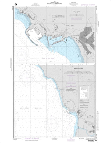 Buy map Agadir And Approaches (NGA-51225-3) by National Geospatial-Intelligence Agency