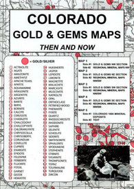 Buy map Colorado, Gold and Gems, 5-Map Set, Then and Now by Northwest Distributors