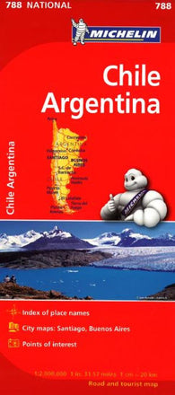 Buy map Chile and Argentina (788) by Michelin Maps and Guides
