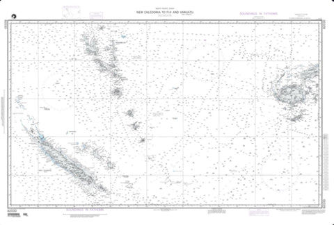 Buy map New Caledonia To Fiji Islands And Vanuatu (NGA-82030-8) by National Geospatial-Intelligence Agency