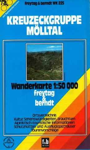 Buy map Kreuzeckgruppe, Molltal, WK 225 by Freytag-Berndt und Artaria