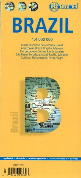 Buy map Brazil by Borch GmbH.
