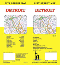 Buy map Detroit, Michigan by GM Johnson