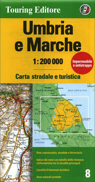 Buy map Umbria and Marche, Italy by Touring Club Italiano