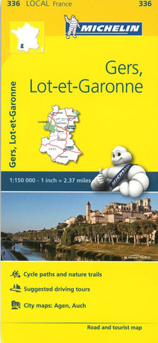 Buy map Michelin: Gers, Lot Et Garonne, France Road and Tourist Map by Michelin Travel Partner