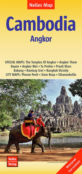 Buy map Cambodia and Angkor by Nelles Verlag GmbH