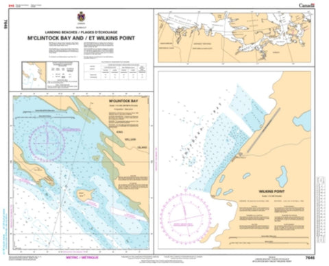 Buy map Putulik (Hat Island) and/et Wilkins Point by Canadian Hydrographic Service