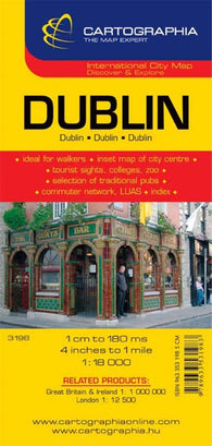 Buy map Dublin, Ireland by Cartographia
