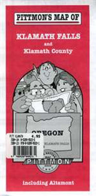 Buy map Klamath Falls and Klamath County, Oregon by Pittmon Map Company