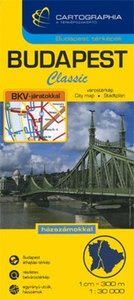 Buy map Budapest, Hungary, Classic by Cartographia