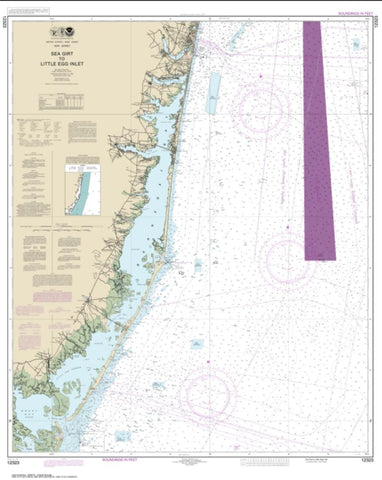 Buy map Sea Girt to Little Egg Inlet (12323-26) by NOAA