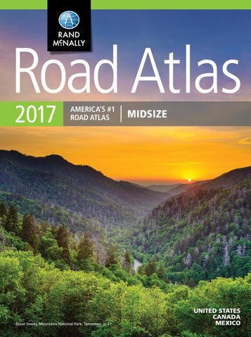 Buy map United States, Canada and Mexico, 2017 Midsize Road Atlas by Rand McNally